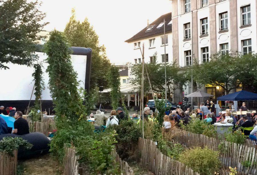 Der Weberplatz in Essen bot die passende Kulisse zum Film © Film- und Medienstiftung NRW