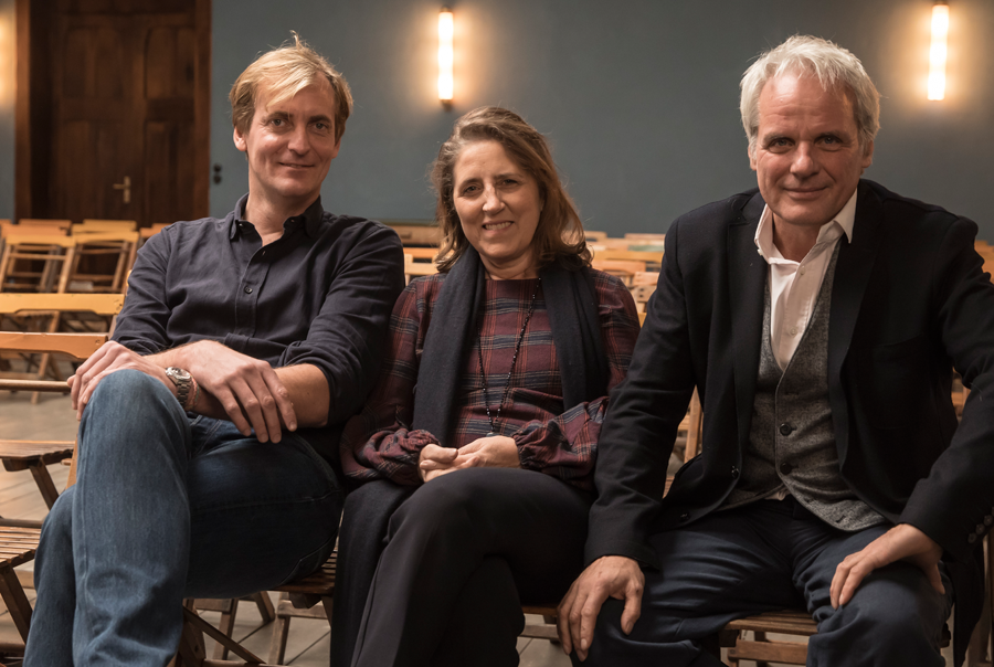 Regisseur Lars Kraume, Petra Müller (FMS), Thomas Kufus (zero one)
