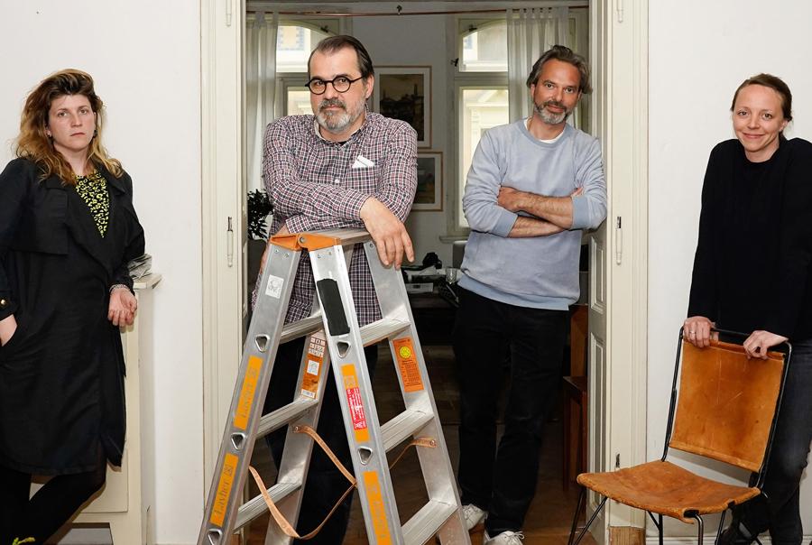 Im Foto (v.l.n.r.): Autorin Kata Wéber, Regisseur Kornél Mundruczó, Produzent Tobias Pausinger, Produzentin Viola Fügen Foto: Steffen Junghans